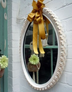 Upcycled Tire Mirror Frame