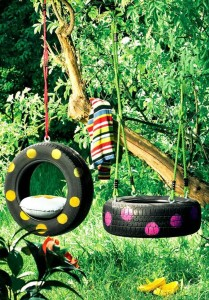 Upcycled Tire Swings