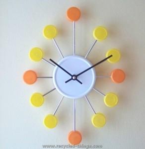 Bottle Caps Clock