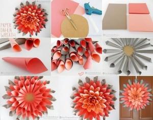 DIY Paper Wreath Wall Decor