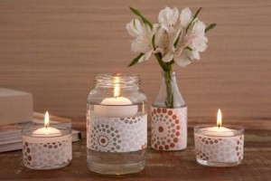 Glass Jars Candle Holders