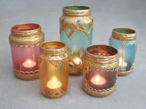 Glass Jars Candle Lanterns
