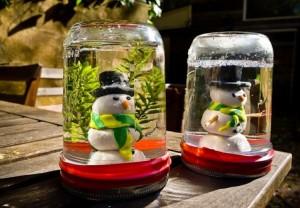 Glass Jars Snowman