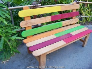 Ice Cream Sticks Bench