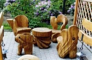 Log Outdoor Furniture