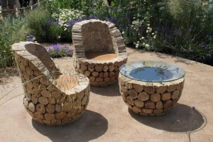 Log Outdoor Furniture Plans