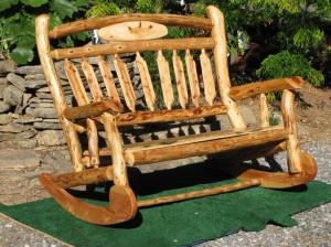 Log Patio Bench
