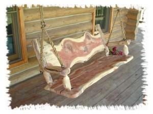 Upcycled Log Swing