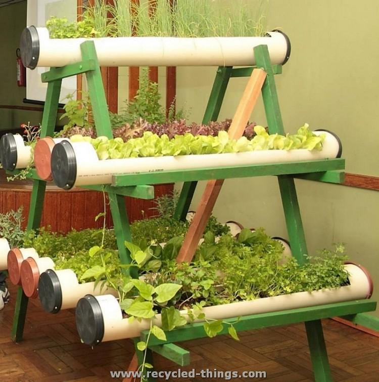 PVC Pipe Herb Planter