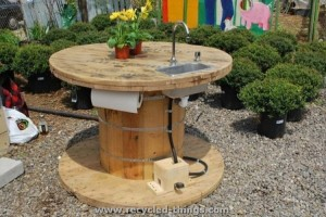 Pallet Cable Reel Sink