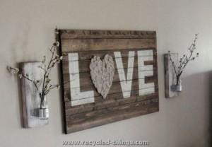 Pallet Love Wall Art