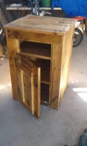 Pallet Side Table with Drawers