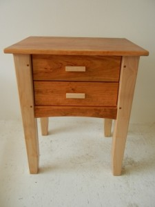 Pallet Wooden End Table with Drawers