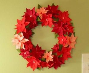 Paper Wreath Wall Decor