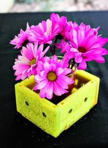 Recycled Cassettes Flower Holder