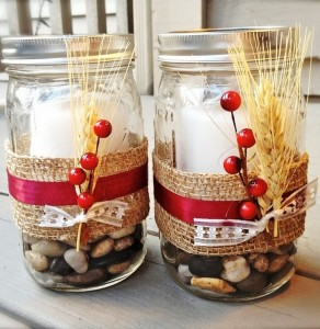 Reuse Glass Jars Candle Holders