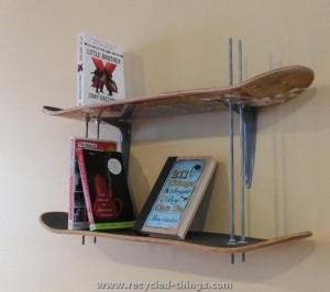 Snowboard Book Shelves