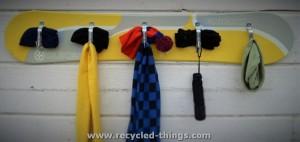 Snowboard Coat Rack