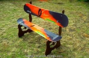 Snowboard Garden Furniture