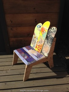 Snowboard Recycled Chair