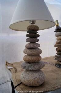 Stones Lamp Art