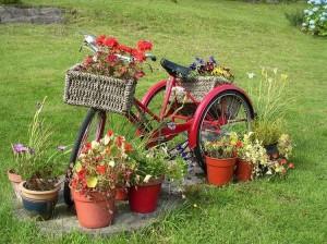 Upcycled Bike Garden Art