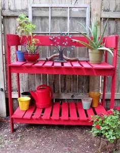 Wooden Pallet Potting Bench