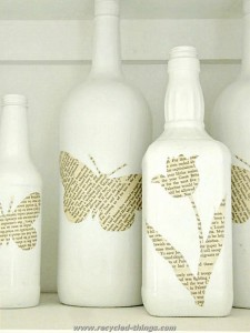 Book Pages Bottle Art