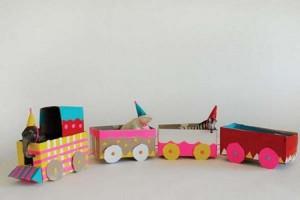Cardboard Train Ideas
