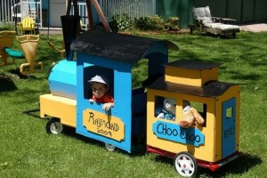 Cardboard Trains