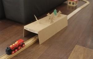 Cardboard Tunel Train
