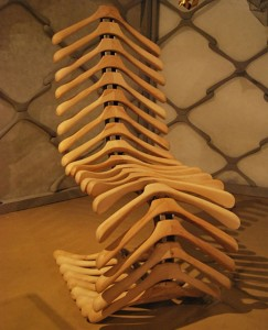 Coat Hangers Turned into Chair
