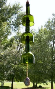 DIY Wind Chime Made from Recycled Wine bottle