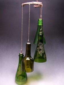 DIY Wine Bottle Wind Chime