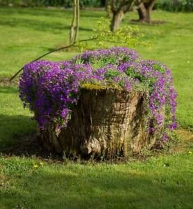 Garden Decor Planter with Log
