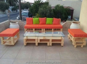 Ideas for Pallet Patio Furniture