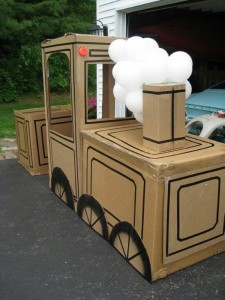 Kids Cardboard Train