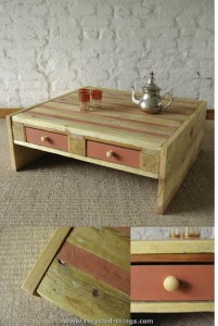 Modern Pallet Coffee Table with Drawers