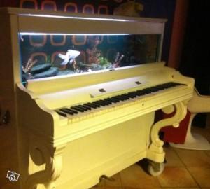 Old Piano Upcycled Aquarium