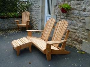 Pallet Adirondack Chair Set