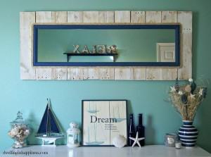 Pallet Wall Decor Mirror