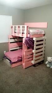 Pallet Wood Bunk Bed