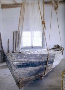 Recycled Boat Hanging Bed