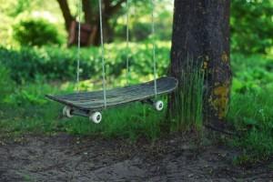 Recycled Skateboard Swing