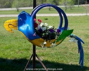 Recycled Tires Garden Bird Planter