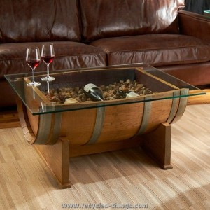 Recycled Wine Barrel Coffee Table