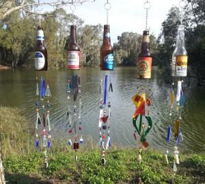 Reuse Wine Bottle Wind Chimes