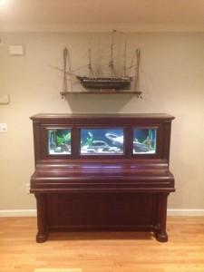 Upcycled Piano Aquarium