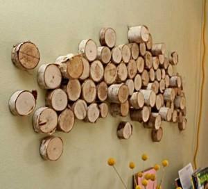 Wood Log Wall Decor