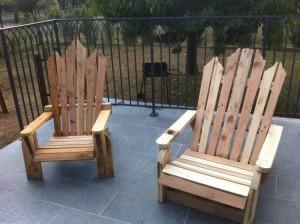 Wooden Pallet Adirondack Chairs